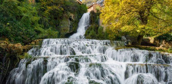 Orbaneja del Castillo, the village divided by a waterfall