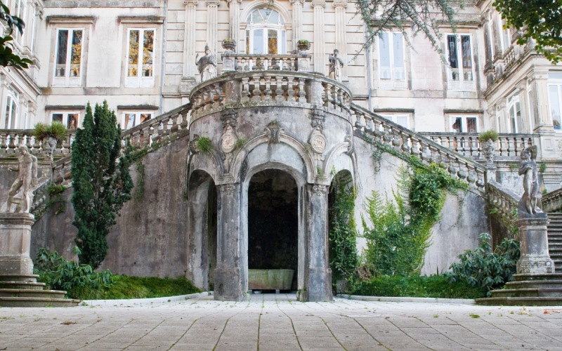 Imperial staircase of the Pazo de Lourizán