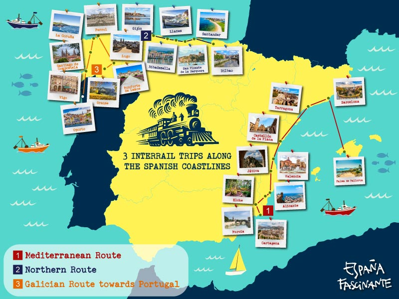 Interrail in Spain