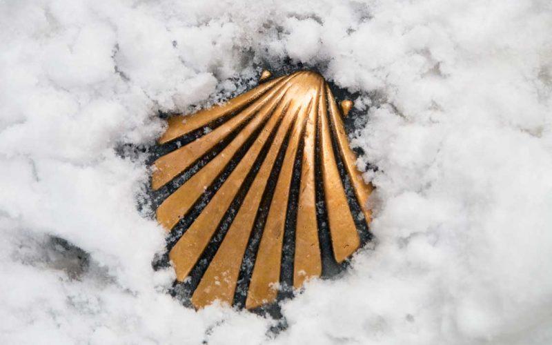 nieve camino Santiago