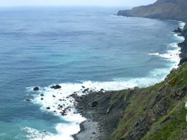 Teixidelo, the only non-volcanic black sand beach in the world