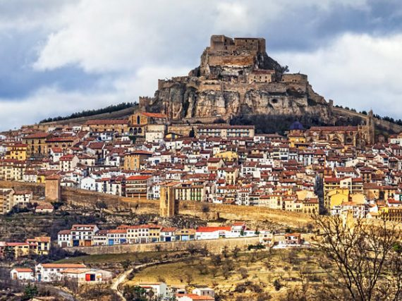 The medieval town of Morella and its impregnable fortress