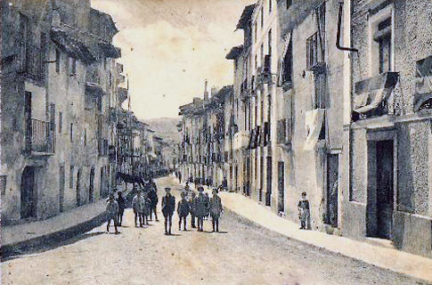 foto antigua Calle Mayor de Fitero