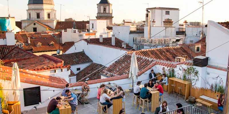 "Rooftop bar of ""The Hat"" Hostel"