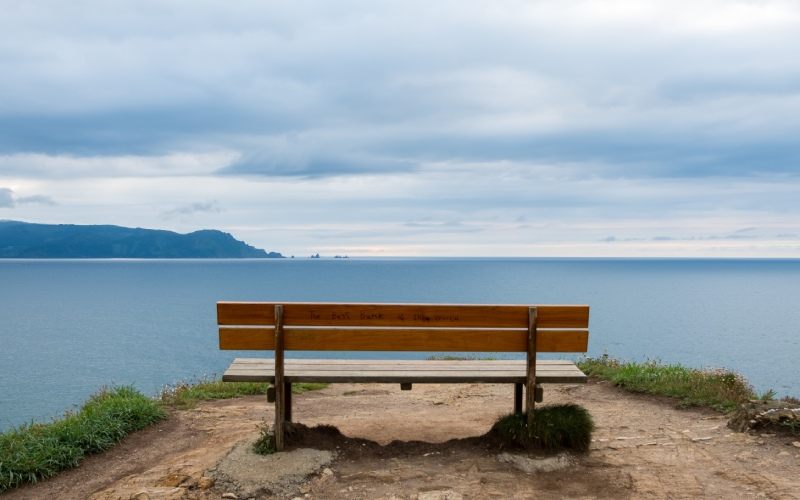 The infinite view from the best bench in the world