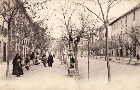 Antigua imagen de la calle de Villanueva, en Tuleda