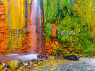 Los Colores Waterfall, the most colourful combination of nature and mankind on La Palma
