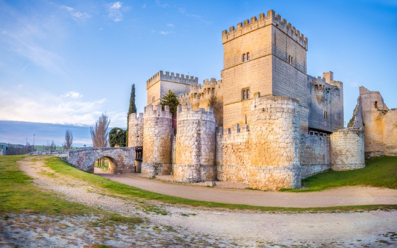 The castle of Ampudia