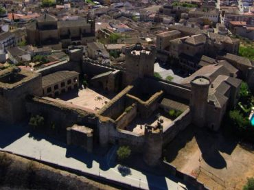 Oropesa Castle, a Toledan Christian fortress on one side and a Muslim one on the other