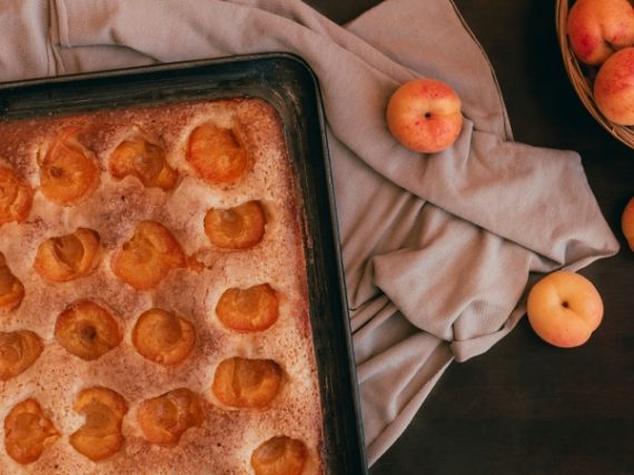 Coca amb tallades with apricot, a Mallorcan dessert for special occasions