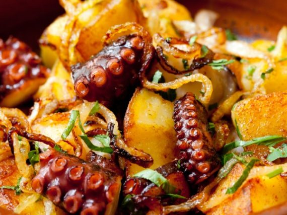 Octopus Fritá, typical recipe from Formentera
