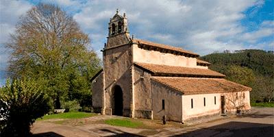 Iglesia de San Salvador de Priesca cerca de Villaviciosa