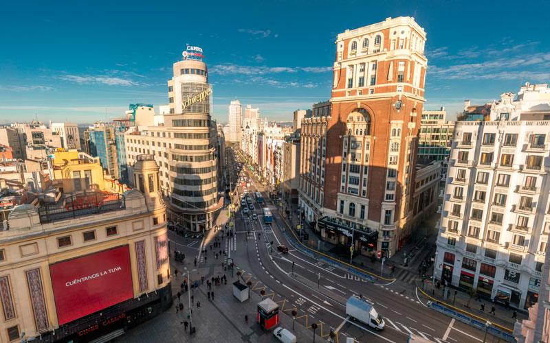 Madrid antiguo: Plaza de Callao actualmente