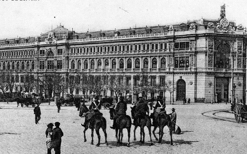 Madrid antiguo: Banco de España a principios del siglo XIX
