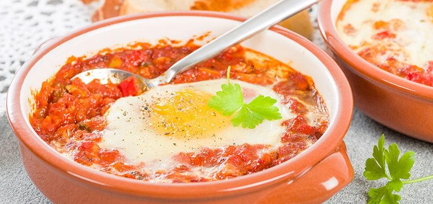 recetas para triunfar pisto con huevo