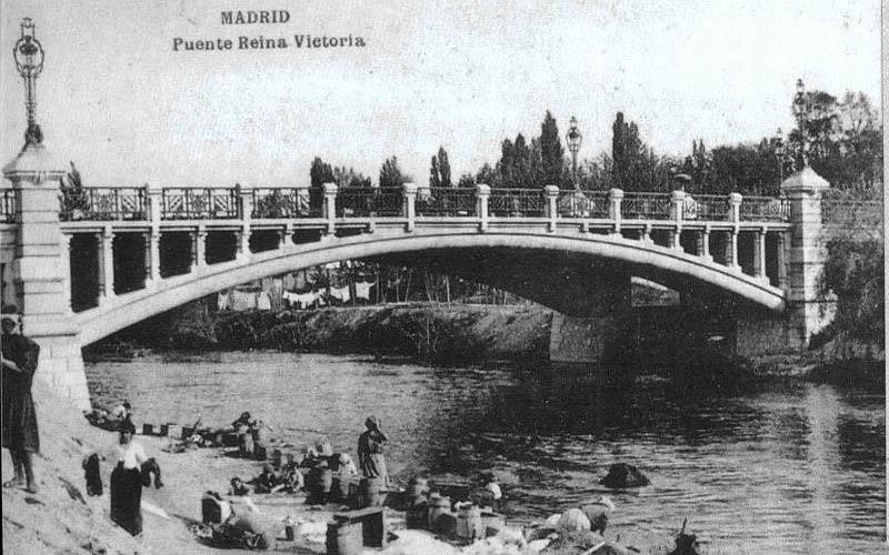 Madrid antiguo: Puente de la Reina Victoria antes