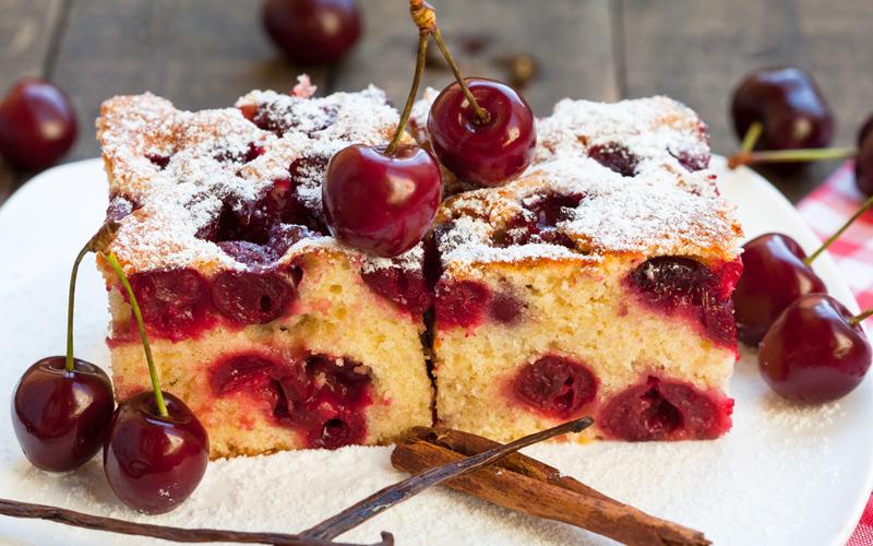 Jerte Cherry Sponge Cake
