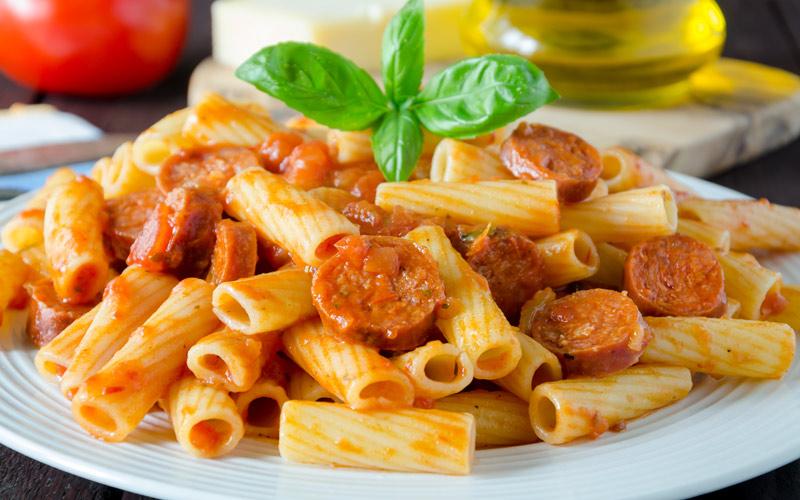 Pasta with chorizo recipe