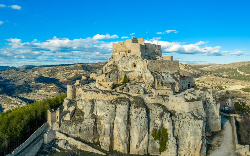 Aerial view of the entire fortress of Morella | Shutterstock
