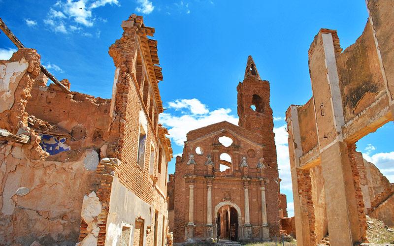 Pueblo Viejo de Belchite. Church of San Martín de Tours