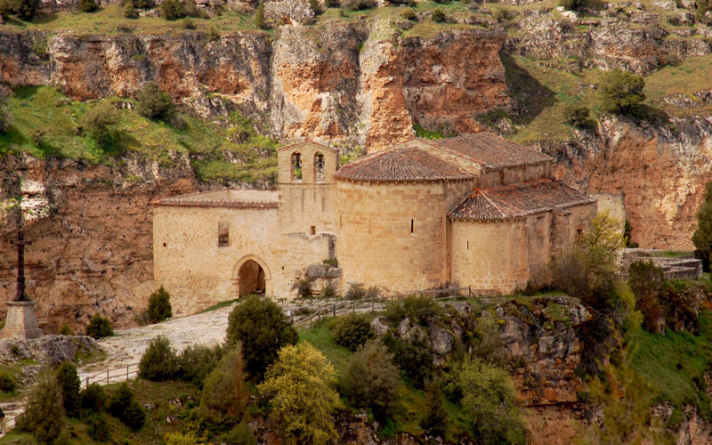 Hermitage of San Frutos in the middle of the Hoces del río Duratón Park