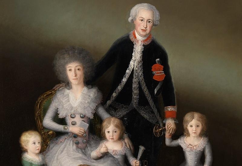 The Dukes of Osuna and their children, Goya