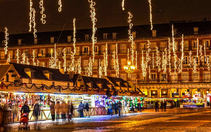 Christmas markets in Madrid's Plaza Mayor