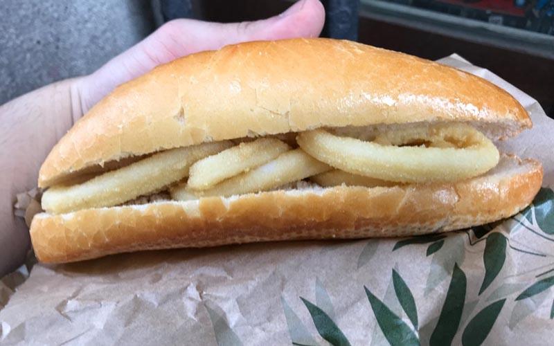 squid sandwich