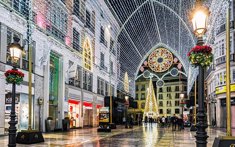 Calle Larios illuminated, Málaga