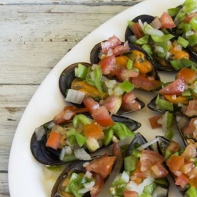Mussels in Vinaigrette Recipe, a delicious starter