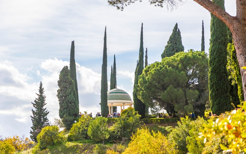 Viewpoint and flora in the Garden of La Concepción