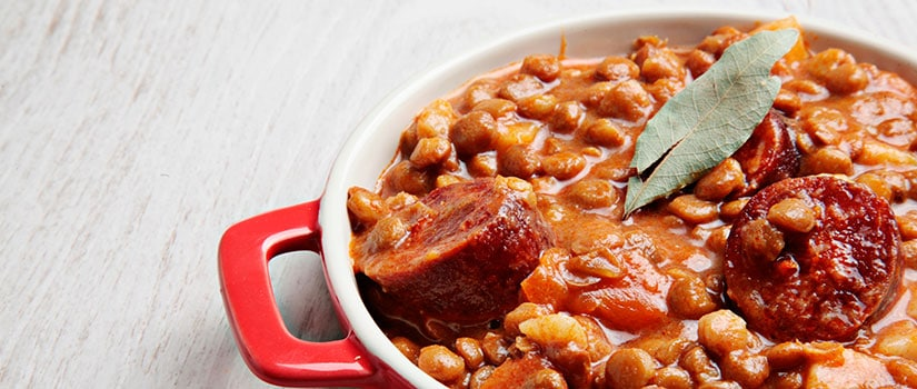 chorizo lentils