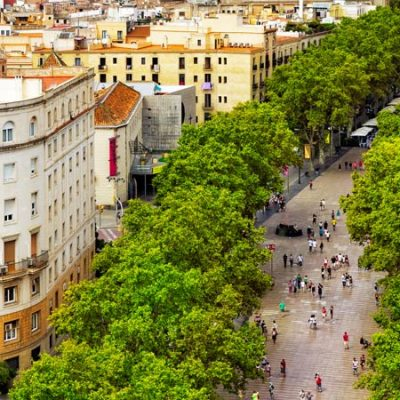 Las Ramblas in Barcelona, the emblematic centre of the Catalan capital