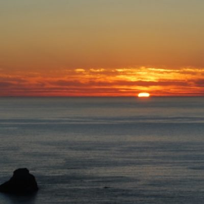 The most famous sunset in Spainis in Finisterre