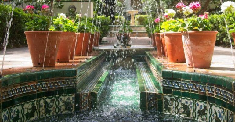 Andalusia in the garden of Sorolla in Madrid