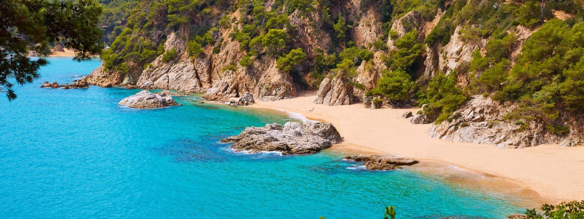 Peaceful coves of the south of Costa Brava