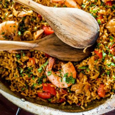 Cuttlefish and Shrimp Paella