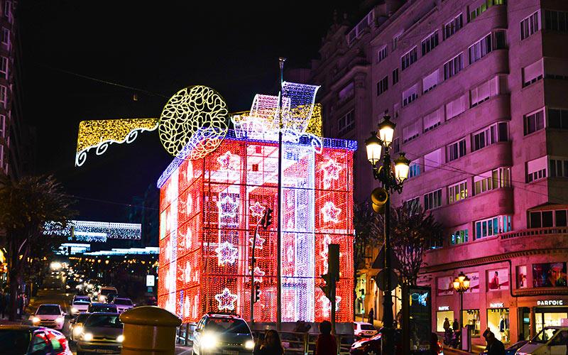 Large christmas lights box