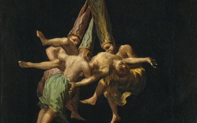 Vuelo de brujas, Goya