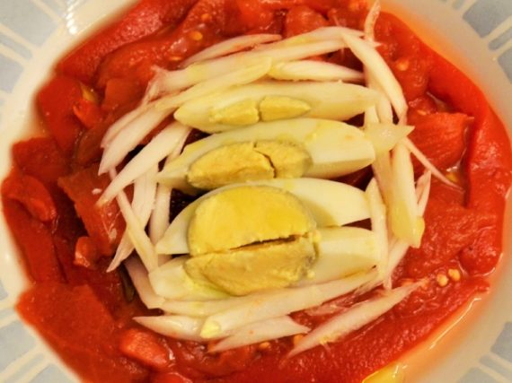 Zorongollo Recipe, the pepper salad from Extremadura